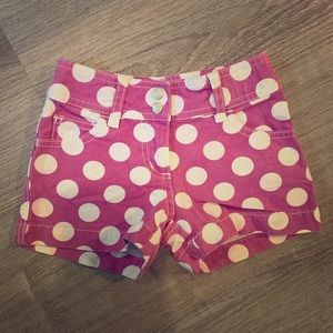 Toddler Pink Polka Dot Mini Biden Shorts
